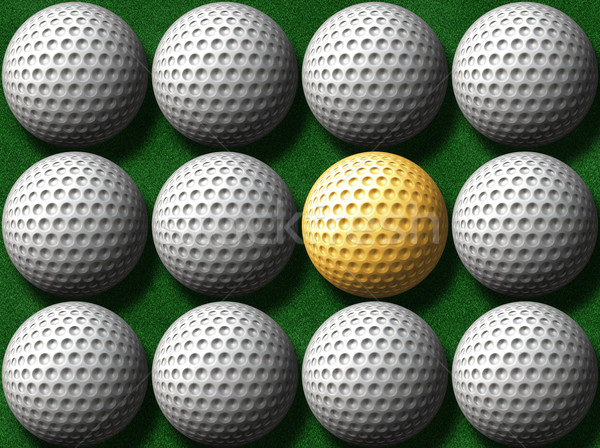 gold golf ball Stock photo © clearviewstock