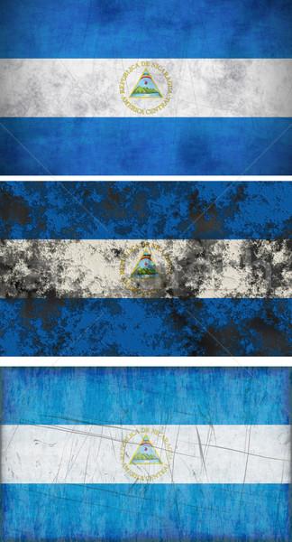 Zászló Nicaragua nagyszerű kép Stock fotó © clearviewstock