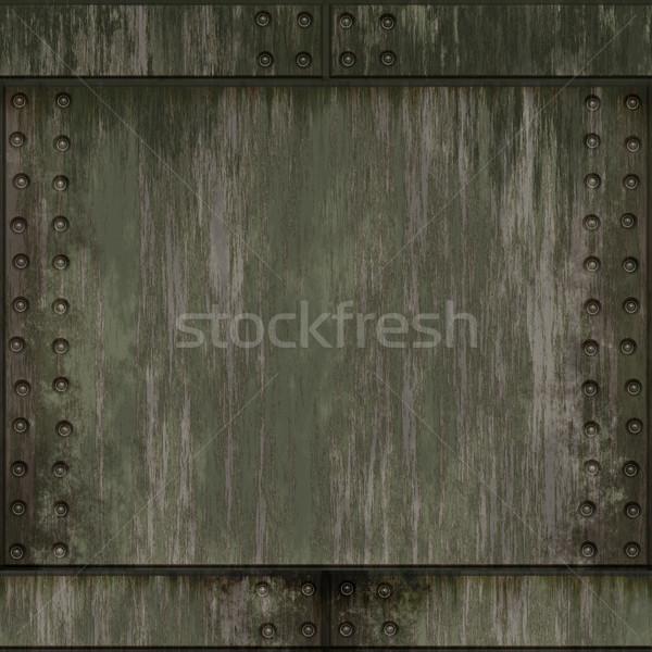 金属 プレート 画像 古い 壁 ストックフォト © clearviewstock