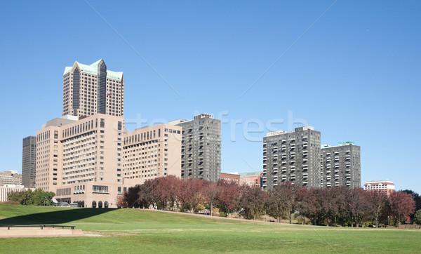 Foto stock: Linha · do · horizonte · cityscape · imagem · Missouri · negócio