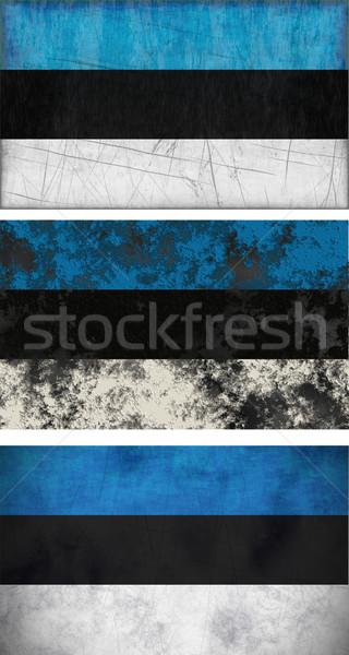 флаг Эстония изображение фон грязные Сток-фото © clearviewstock