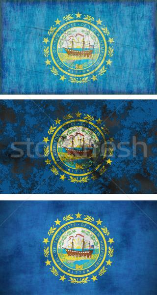 Bandiera New Hampshire immagine sfondo tessuto Foto d'archivio © clearviewstock