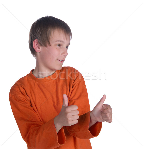 boy thumbs up Stock photo © clearviewstock