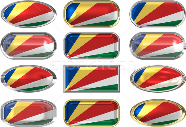 twelve buttons of the Flag of the Seychelles Stock photo © clearviewstock