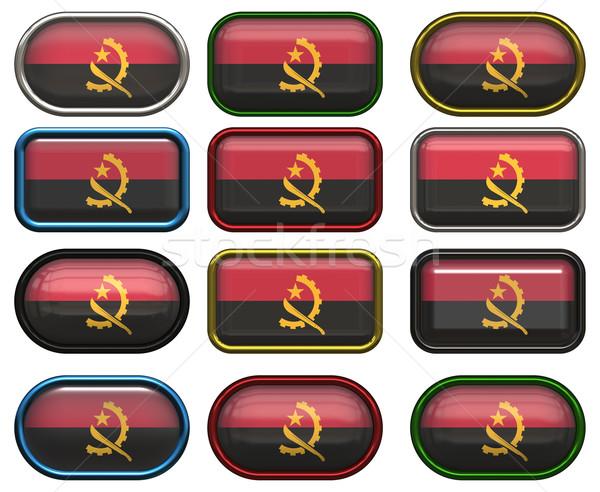 Oniki düğmeler bayrak Tiftik dokuma Stok fotoğraf © clearviewstock