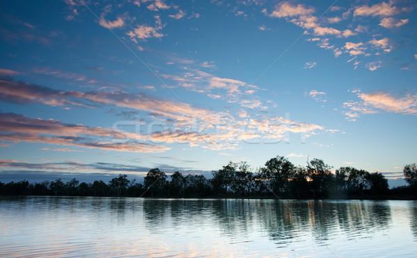 Pôr do sol rio água sul da austrália céu beleza Foto stock © clearviewstock