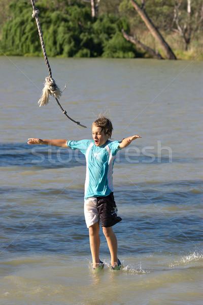 boy walking on water Stock photo © clearviewstock