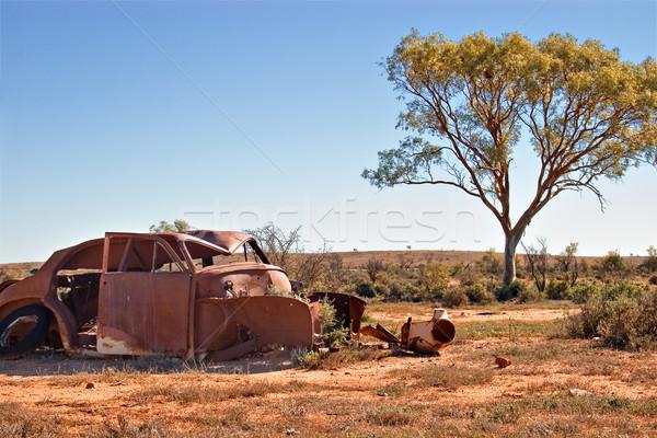 Stock photo: old car in the desert