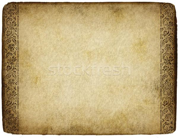 Foto d'archivio: Vecchia · pergamena · vecchio · grunge · pergamena · design