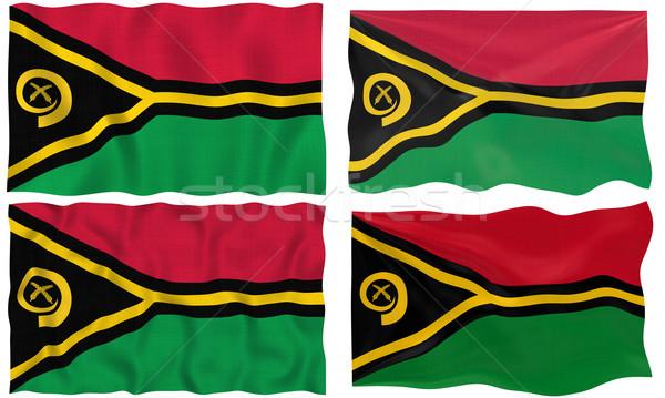 Bandeira Vanuatu imagem Foto stock © clearviewstock