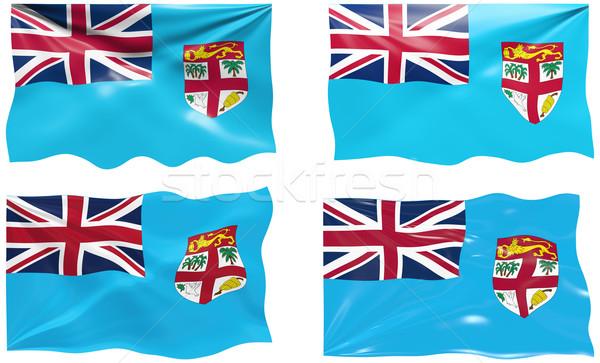 Zászló Fidzsi-szigetek nagyszerű kép Stock fotó © clearviewstock