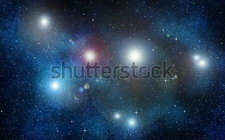 Gwiazdki przestrzeni nieba obraz Zdjęcia stock © clearviewstock