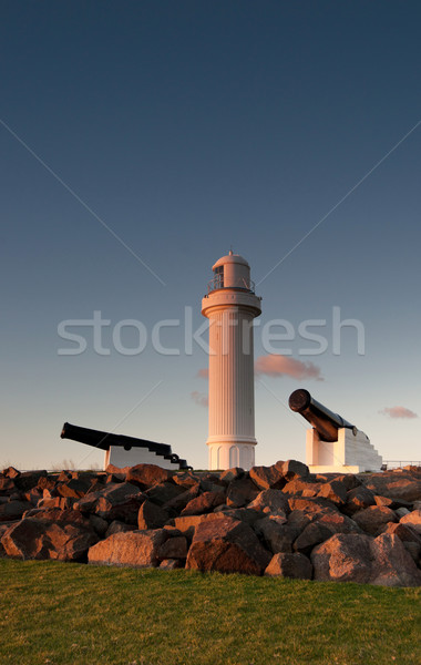 lighthouse and cannons at wollongong Stock photo © clearviewstock