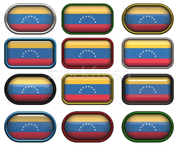 12 knoppen vlag Venezuela twaalf groot Stockfoto © clearviewstock