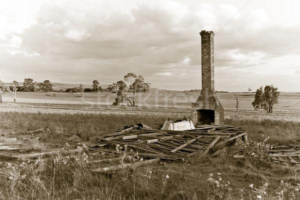 ören tüm eski sepya son çağ Stok fotoğraf © clearviewstock