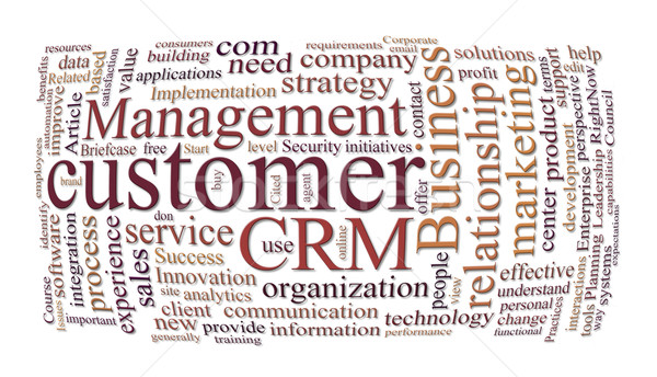 Crm client relations gestion marketing nuage de mots Photo stock © clearviewstock