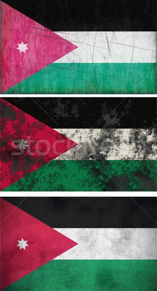 Banderą Jordania obraz tle brudne Zdjęcia stock © clearviewstock