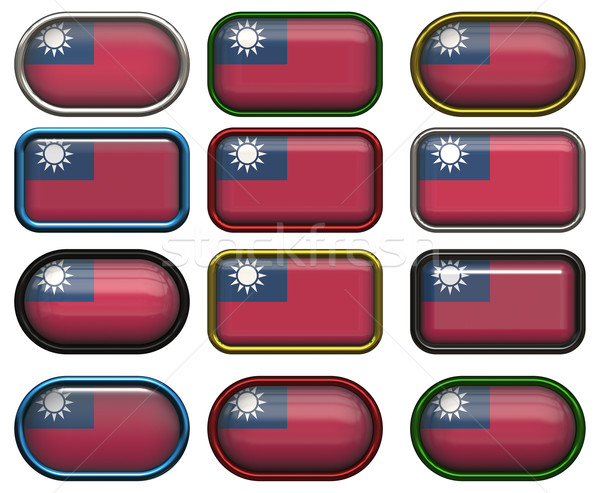 12 buttons of the Flag of Taiwan Stock photo © clearviewstock