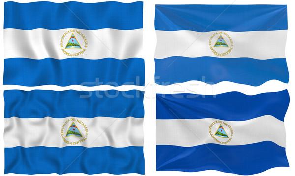Bandeira Nicarágua imagem Foto stock © clearviewstock