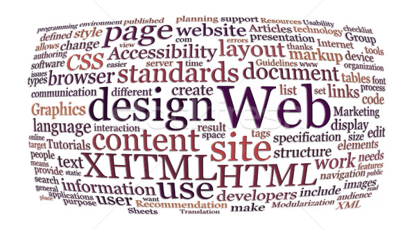 web design word cloud Stock photo © clearviewstock
