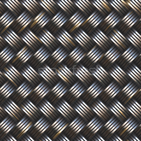 woven metal Stock photo © clearviewstock