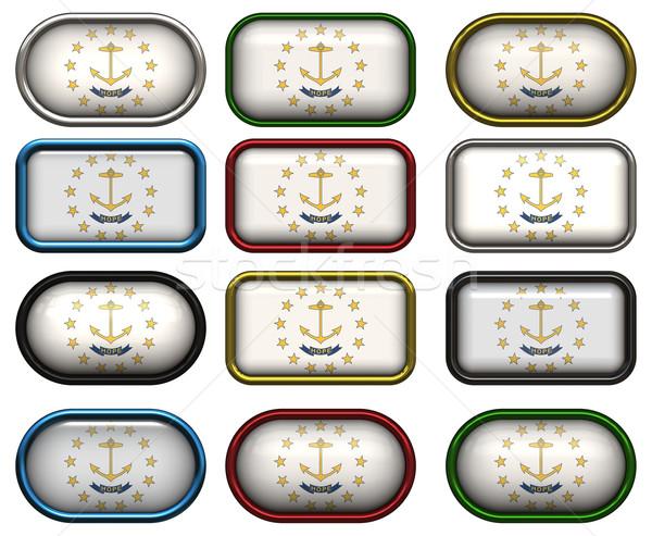 12 düğmeler bayrak Rhode Island oniki muhteşem Stok fotoğraf © clearviewstock