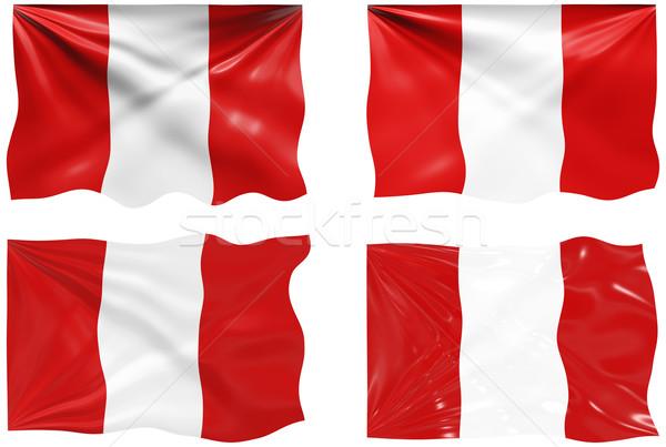 Bandera Perú imagen Foto stock © clearviewstock