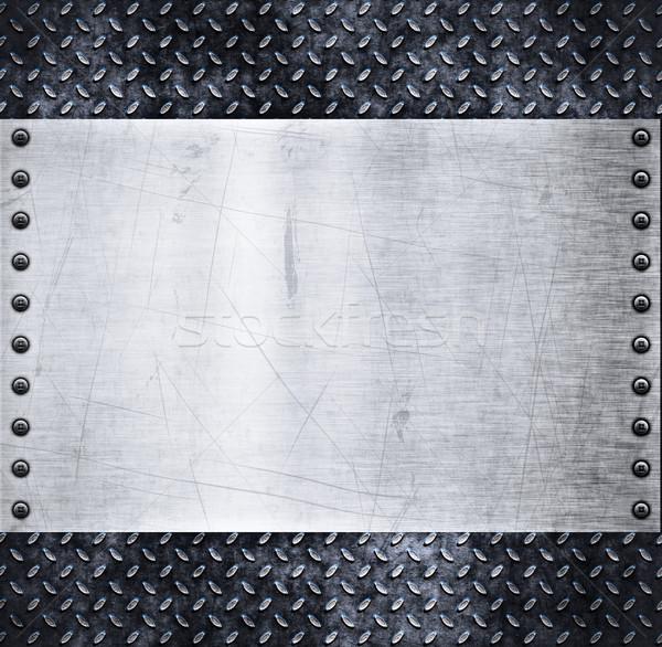 Starych tekstury metalu brudne diament tablicy Zdjęcia stock © clearviewstock