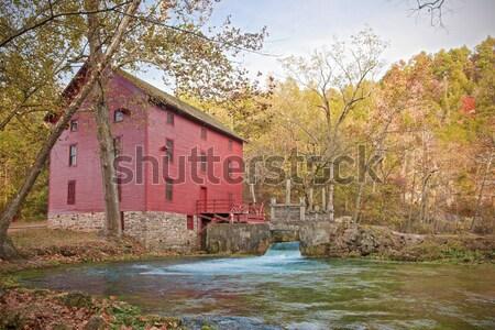 Geçit bahar değirmen ev Missouri düşmek Stok fotoğraf © clearviewstock