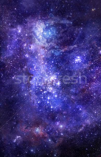 Mgławica gazu Chmura głęboko przestrzeń kosmiczna jasne Zdjęcia stock © clearviewstock