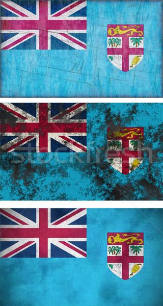 Bandiera Fiji immagine sfondo sporca Foto d'archivio © clearviewstock