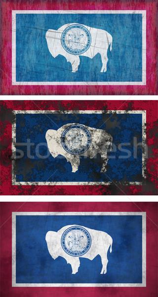 Bandera Wyoming imagen fondo sucia Foto stock © clearviewstock