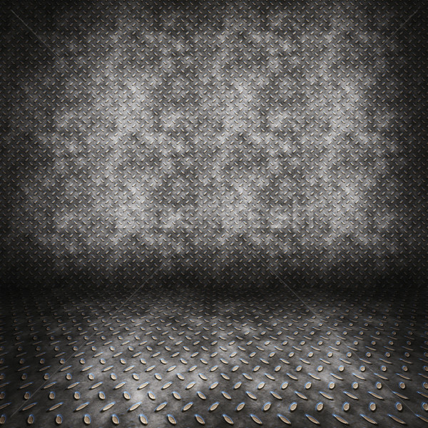 diamond plate metal room Stock photo © clearviewstock