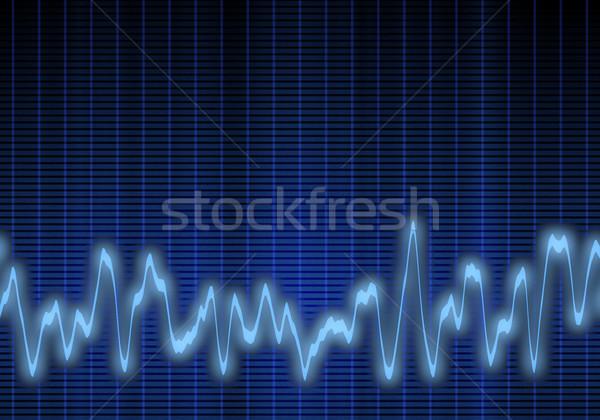 Audio hanghullám nagyszerű kép kék technológia Stock fotó © clearviewstock