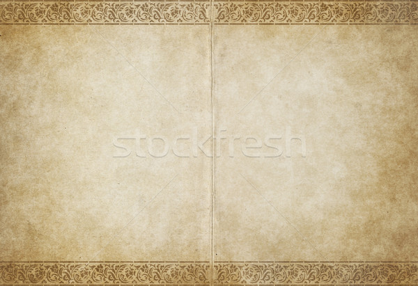 Foto stock: Pergamino · papel · imagen · flor · libro