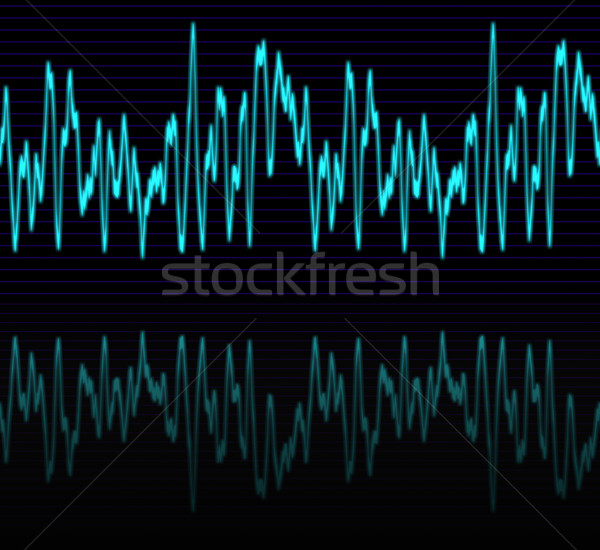 Audio hullám kép izzó tükröződés terv Stock fotó © clearviewstock
