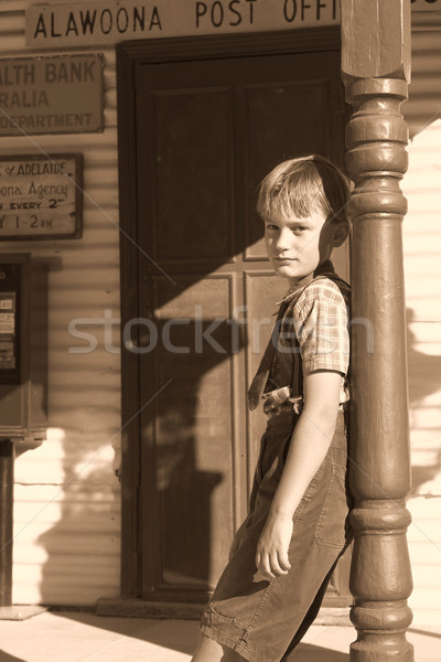 leaning boy Stock photo © clearviewstock