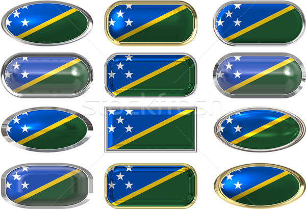 twelve buttons of the Flag of Solomon Islands Stock photo © clearviewstock