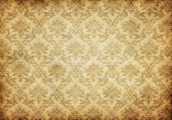 öreg damaszt tapéta nagyszerű retro koszos Stock fotó © clearviewstock