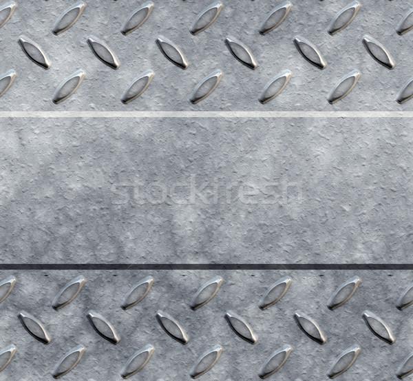 ダイヤモンド プレート 画像 コピースペース 背景 ストックフォト © clearviewstock