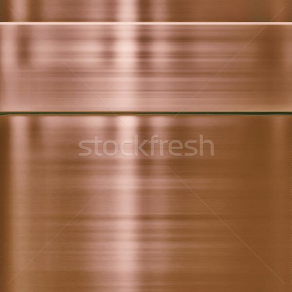 Cobre textura de metal panel textura construcción industria Foto stock © clearviewstock