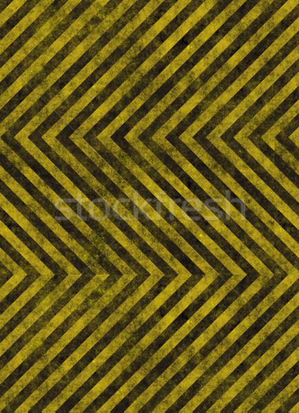 Pericolo giallo strisce come strade Foto d'archivio © clearviewstock