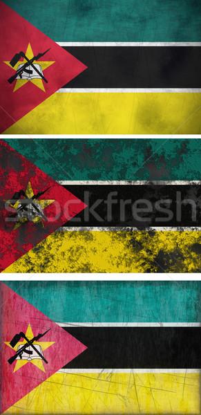 Banderą Mozambik obraz Zdjęcia stock © clearviewstock