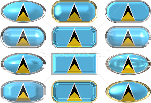 twelve buttons of the Flag of Saint Lucia Stock photo © clearviewstock