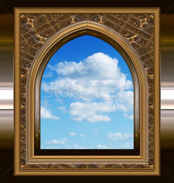 Готский scifi окна Blue Sky изображение научная фантастика Сток-фото © clearviewstock