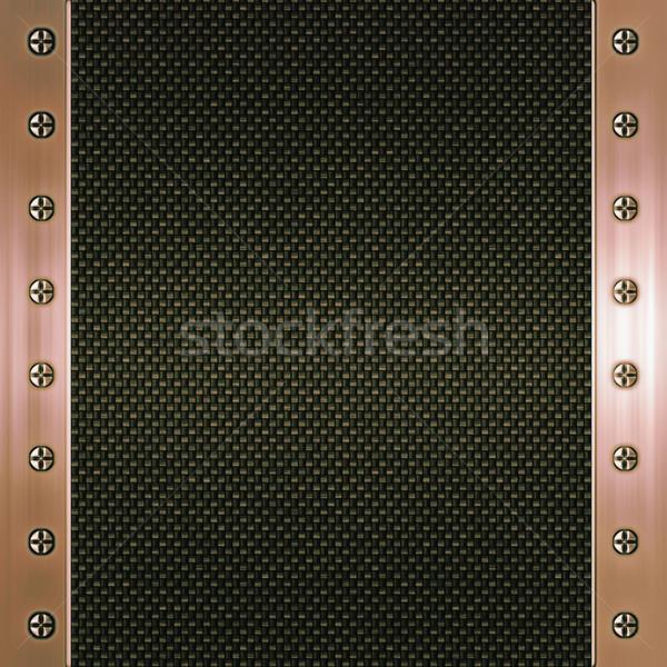 Carbono fibra cobre imagen metal marco Foto stock © clearviewstock