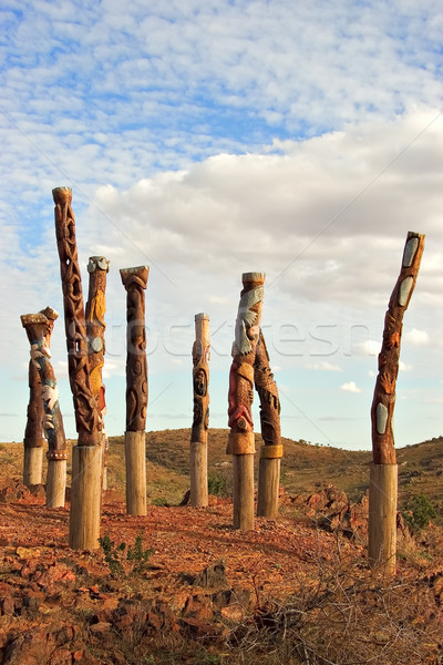 aboriginal poles Stock photo © clearviewstock