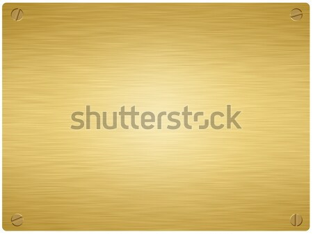 gold plaque3 Stock photo © clearviewstock