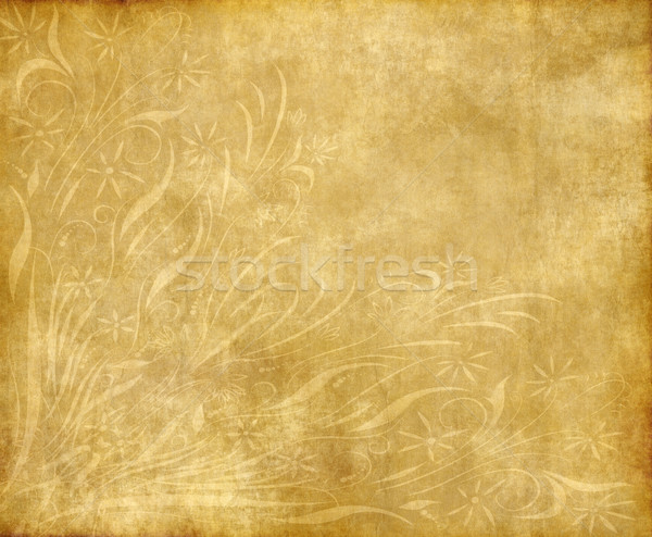 Vieux papier parchemin texture floral design Photo stock © clearviewstock