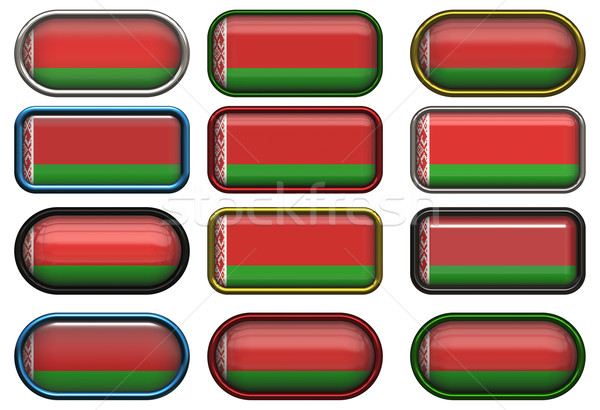 twelve buttons of the Flag of Belarus Stock photo © clearviewstock